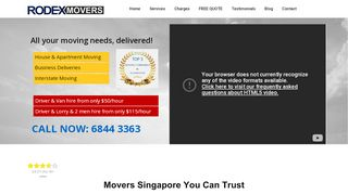 Rodex Movers Singapore